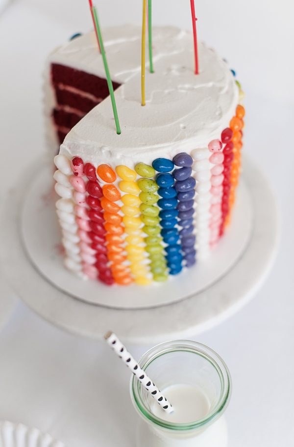 A yummy Jelly Bean Layer Cake