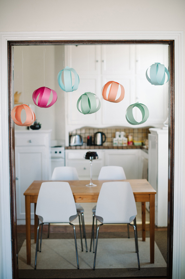 Celebrate Spring - paper party balls