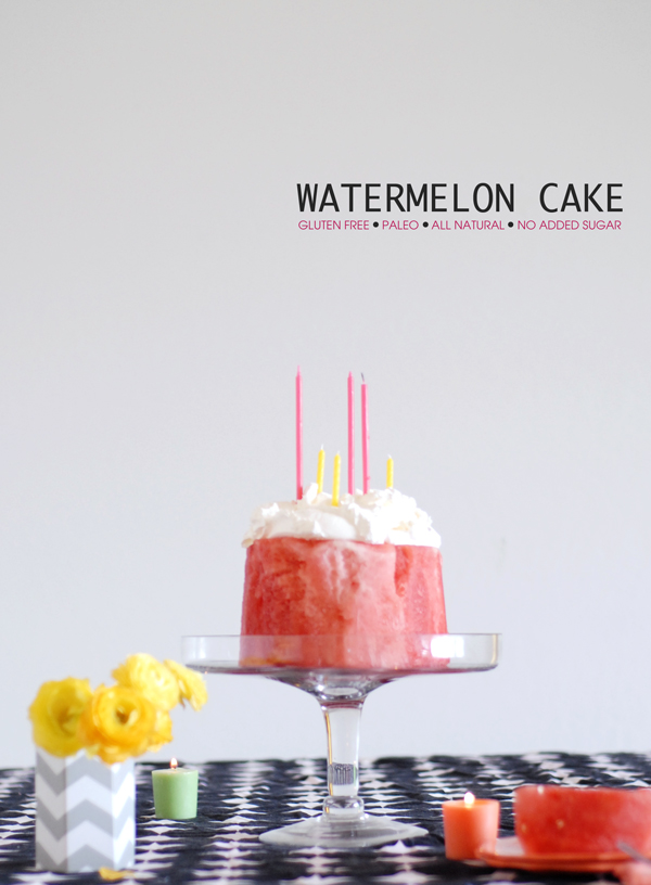 how to cut a watermelon cake