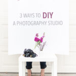 diy in home photography studio – 3 ways