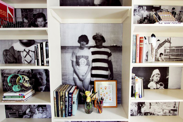 fun ideas for hanging huge photos at home a subtle revelry. Black Bedroom Furniture Sets. Home Design Ideas