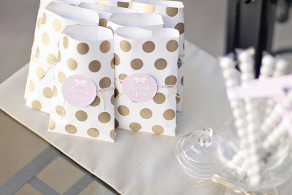 Wrapping paper party favor bags