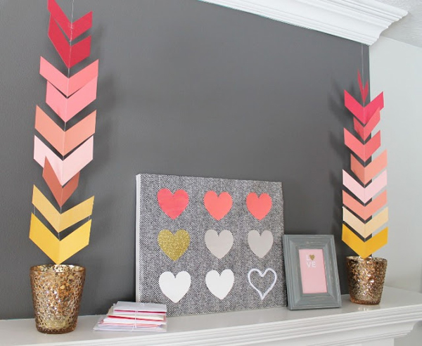 chevron paper party garland