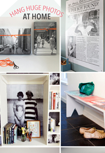 fun ideas for hanging huge photos at home