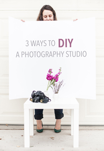 diy in home photography studio - 3 ways