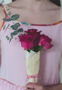miniature {may day} rose bouquets