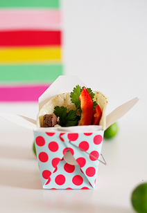 steak taco favor boxes