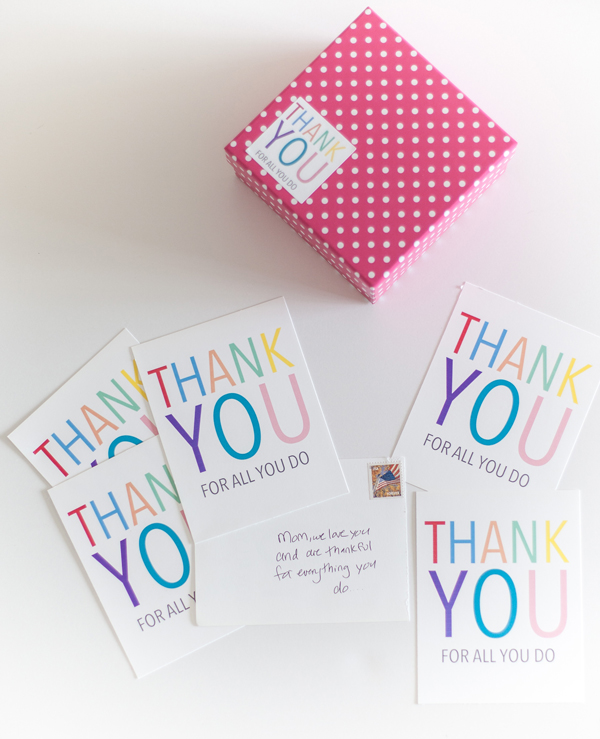 Printable Thank You Note Stickers  A Subtle Revelry