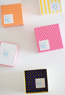 printable thank you note stickers