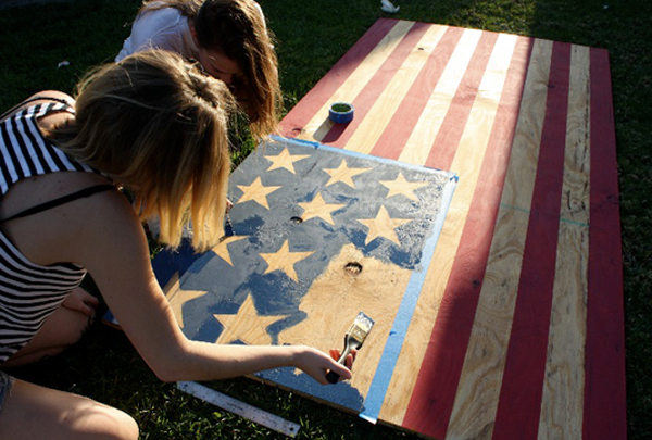 let's host an american flag party • A Subtle Revelry