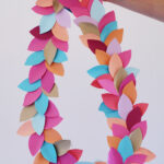 paper leaf party garland