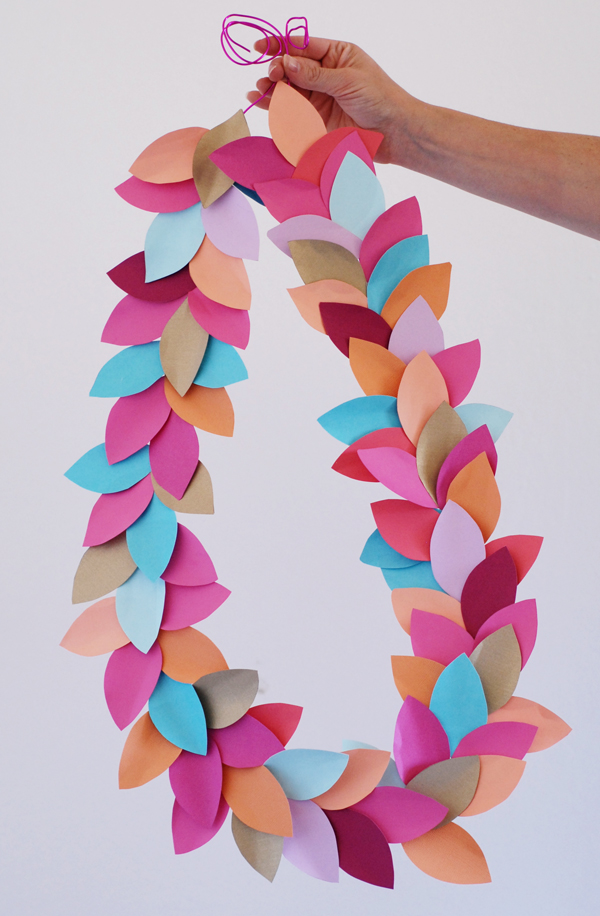 Bright leaf party garland!