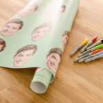 custom wrapping paper for dad