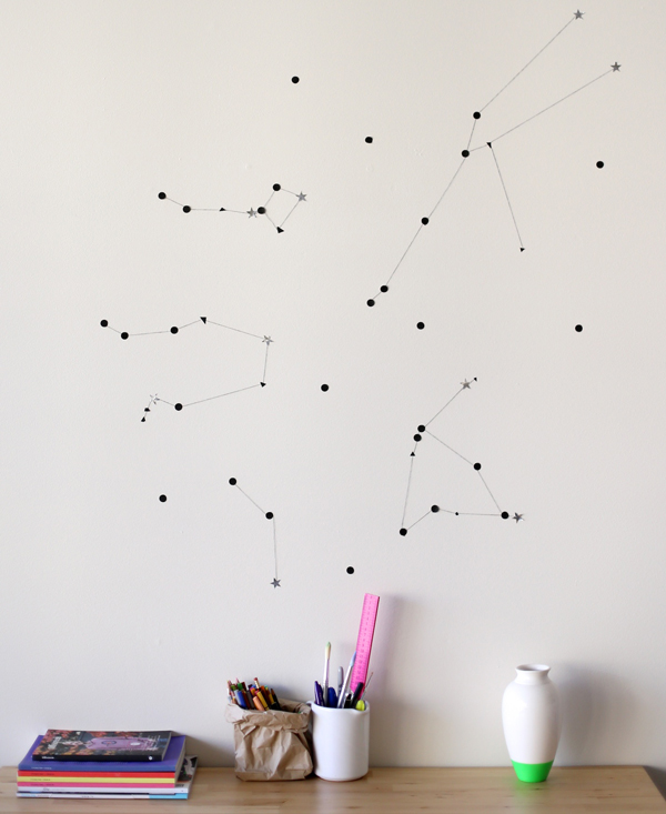 Sticker star wall constellation