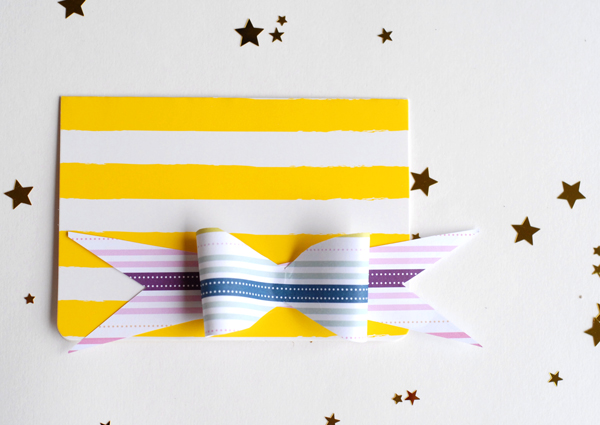 Paper bow cards