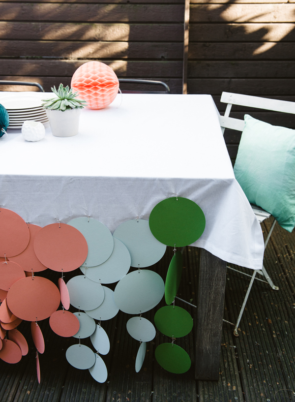 Confetti dot tablecloth