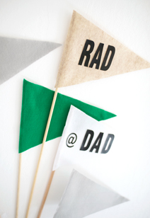father's day pendant flags