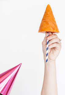 party hat popsicles