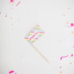 splatter paint paper party decor