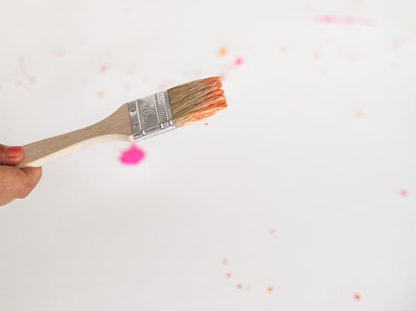 DIY splatter paint party decorations