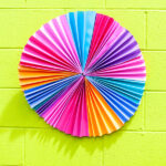 bright accordion paper wreath