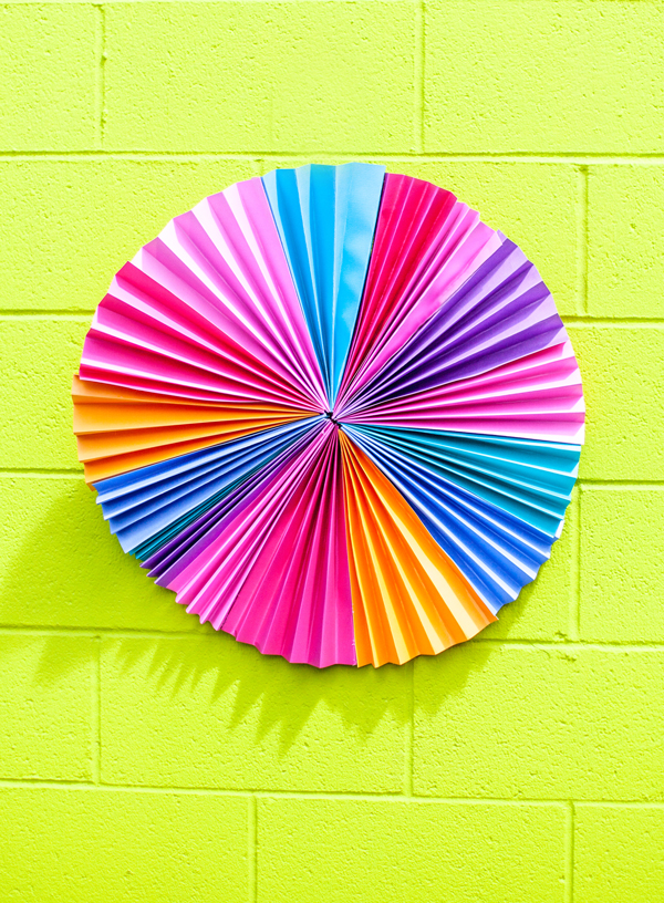 Bright Accordion Paper Wreath for Party Backdrop