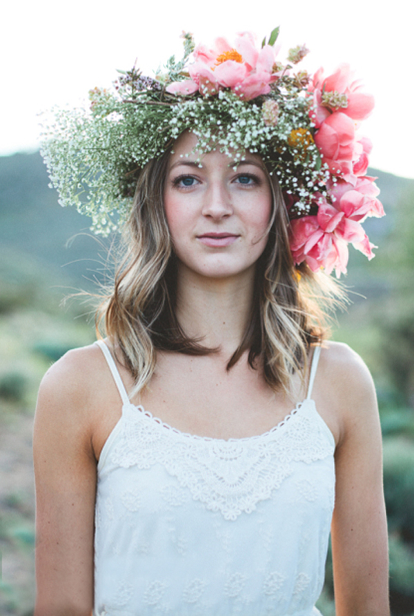 Weighted Floral Crown