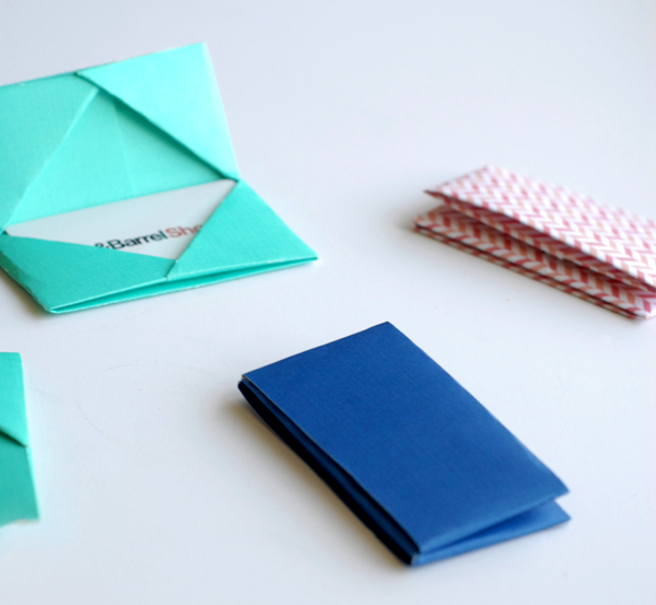 Origami gift card holders