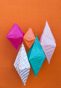 paper diamond lanterns