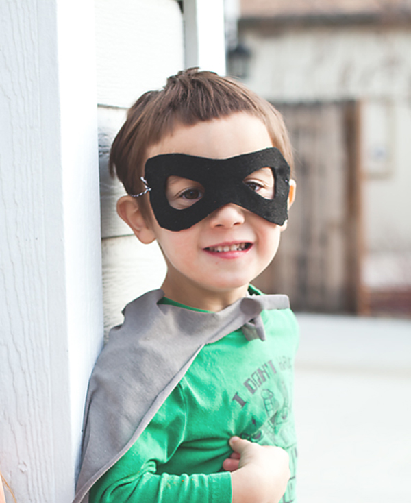 DIY super hero party mask