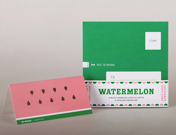 Peelable watermelon party invitation