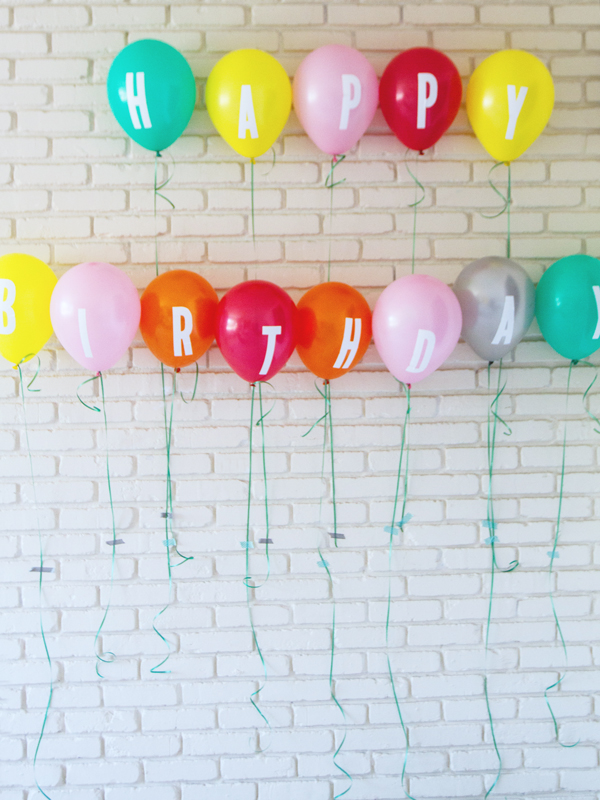 DIY birthday balloon banner