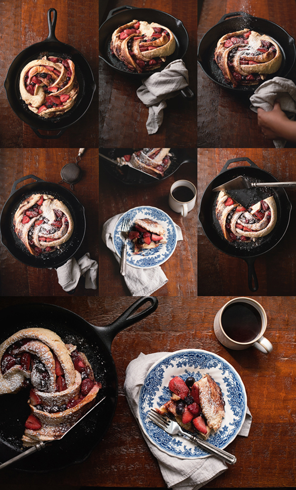 Triple Berry Swirl Bread