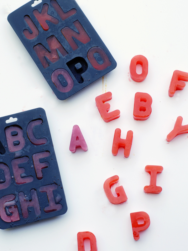 Typography ice cubes