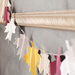 festive folded leaf garland