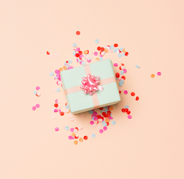 Pretty wrapped gifts