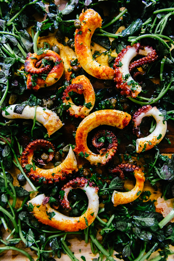 Octopus dinner party recipe