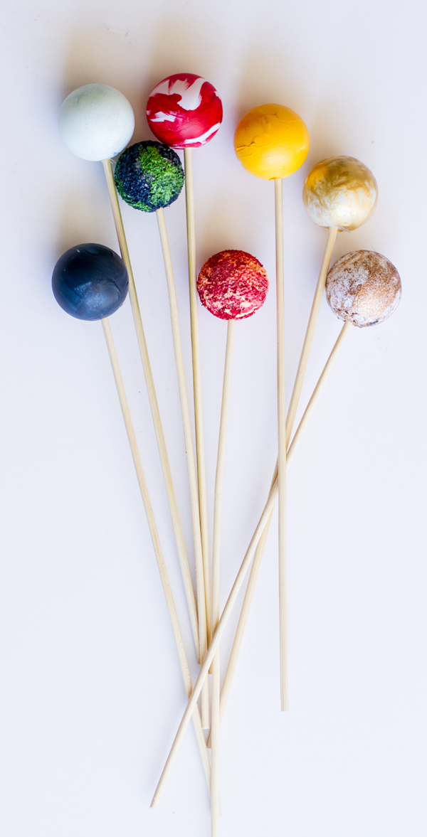 DIY Planet Cake Toppers