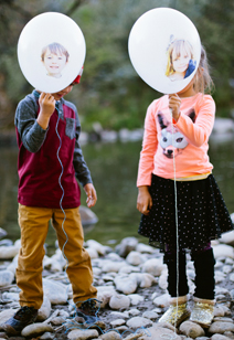 face decal party balloons