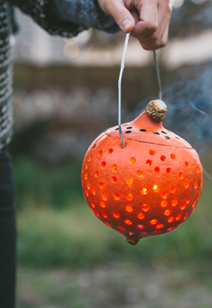 why don't we... light a pumpkin party lantern