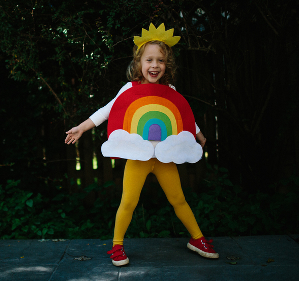 Kids Rainbow Halloween Costume