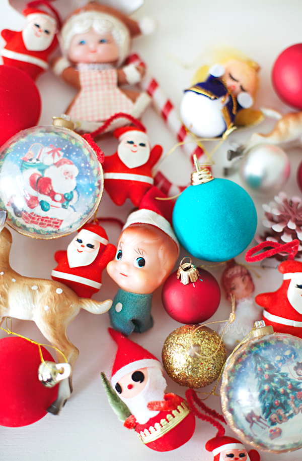 A collection of vintage ornaments