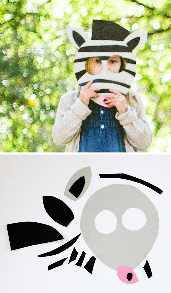 DIY Printable Zebra Mask