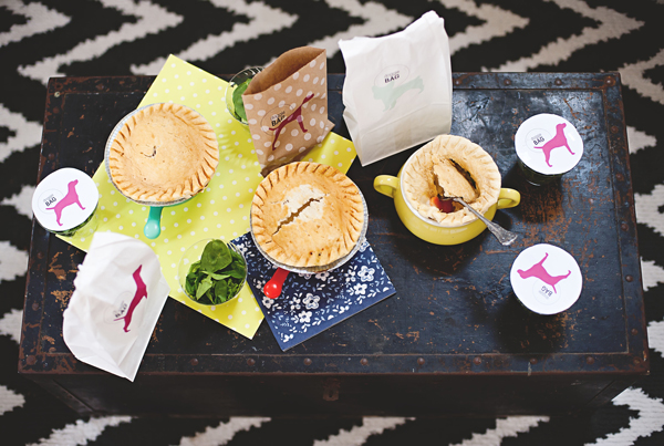 Pot pies and doggie bags