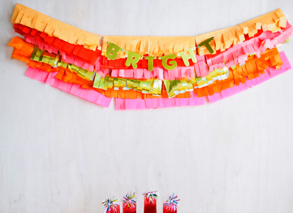bright holiday party garland