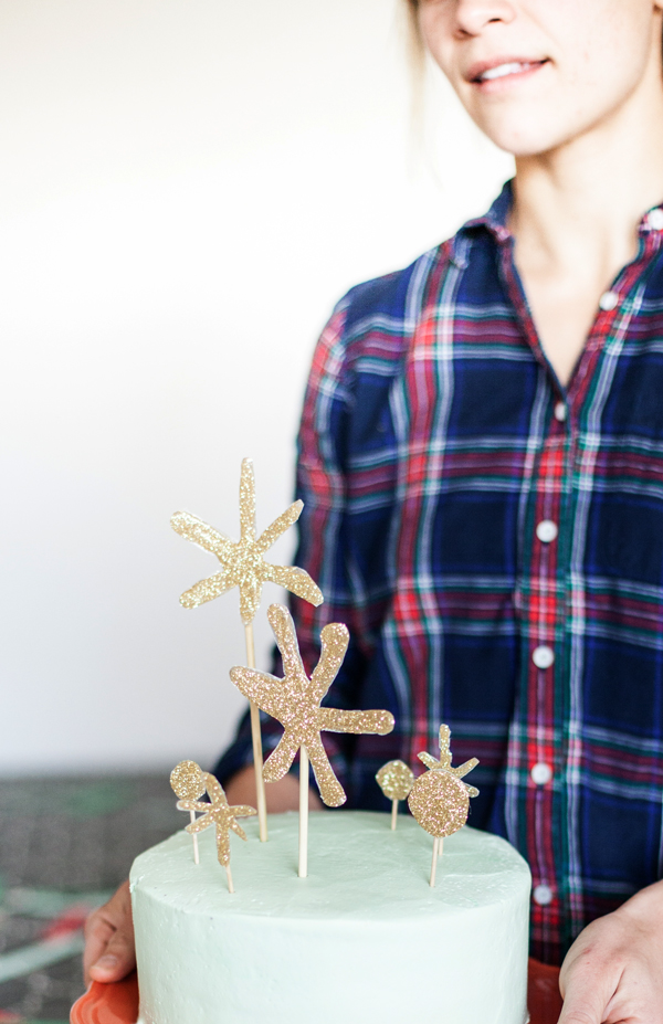glitter star holiday topper