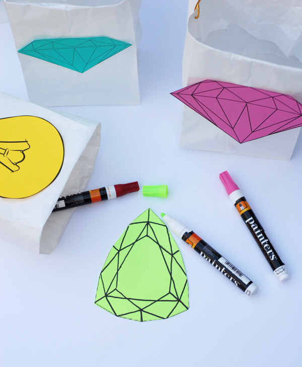 DIY paper jewel decals