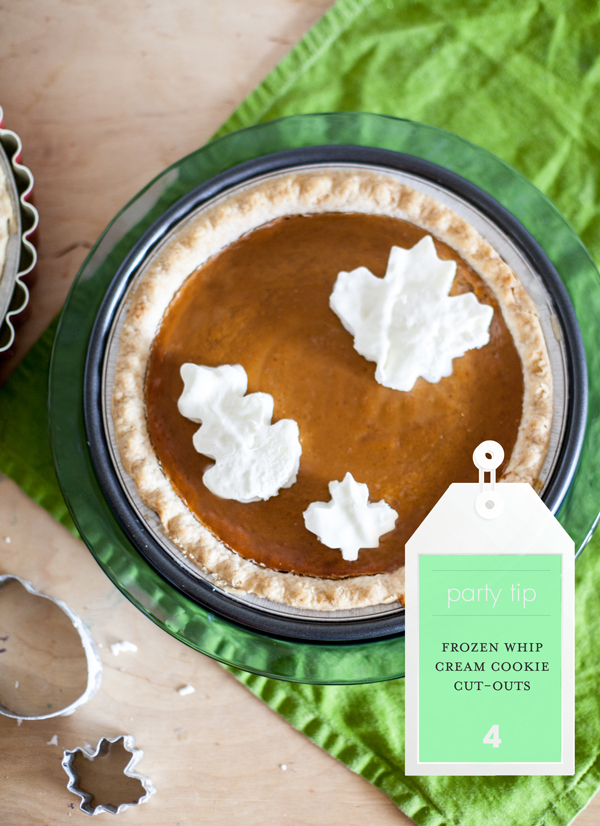 Freeze whip cream and make cut-outs with cookie cutters to top a pie!