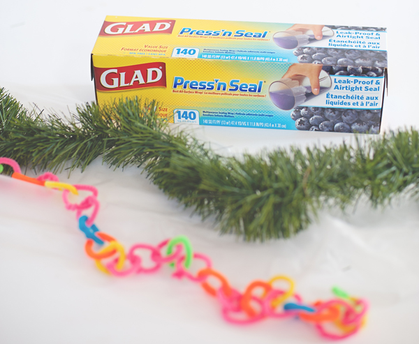 Use glad to keep holiday garland separated and fresh looking