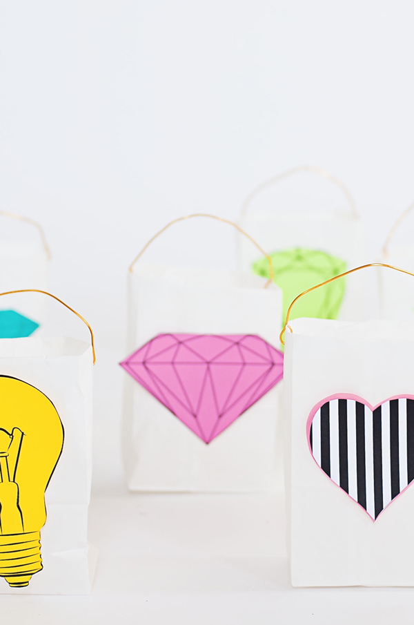 Paper Bag Party Lanterns